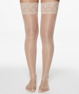 Stay-up 15 Denier Lace Anti-ladder, Teint