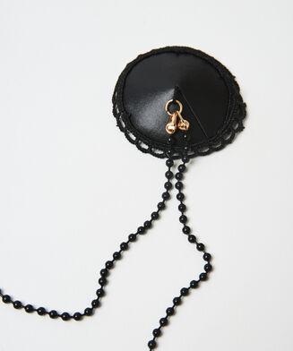 Private Nipple Cover Chain, Schwarz