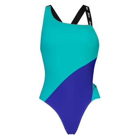 HKMX One-Shoulder Badeanzug, Blau