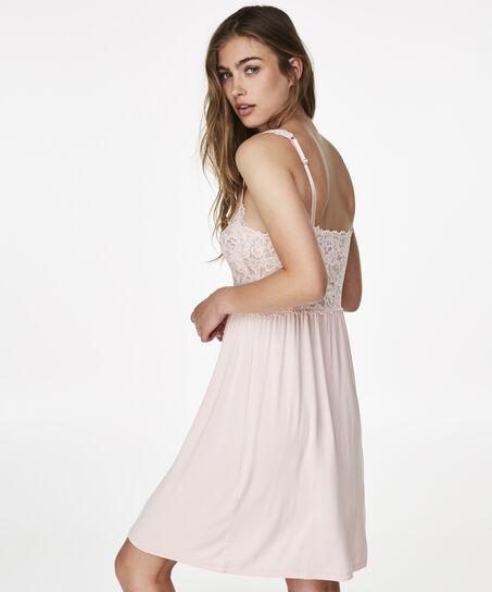 Slipdress Modal Lace, Rose