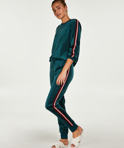 Jogginghose Velours Stripe, grün