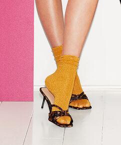 Lurex-Socken Rib , Gelb