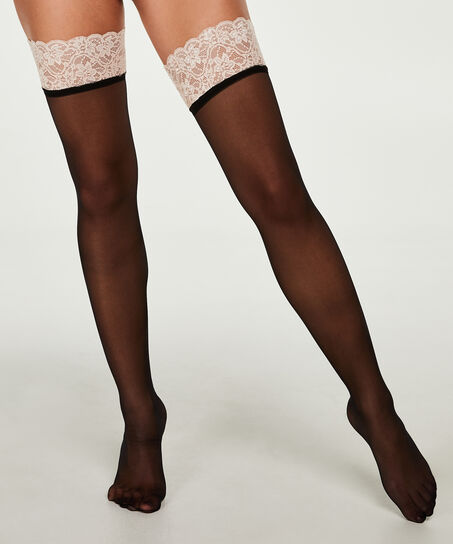 Stockings 20D Lace, Rose