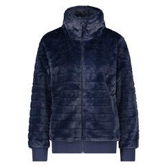 Weste aus Fleece-Pelz, Blau