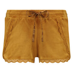 Shorts Velours Lace, Gelb