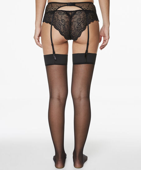 Stockings 15 Denier Clean Edge, Schwarz