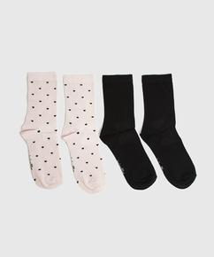 2P Socken Viskose, Rosa