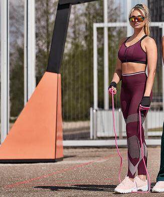 HKMX Hohe Sportleggings Roundknit, Lila