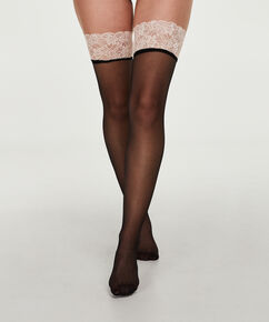 Stay-ups 15 Denier Lace, Rose