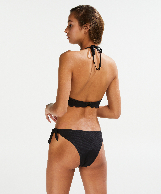 Vorgeformtes Push-up Bügel-Bikinitop Scallop Cup A - E, Schwarz, main