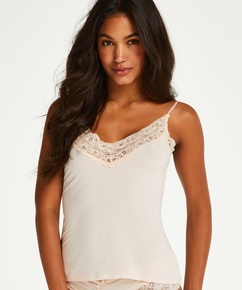 Jersey-Cami Lace, Rosa