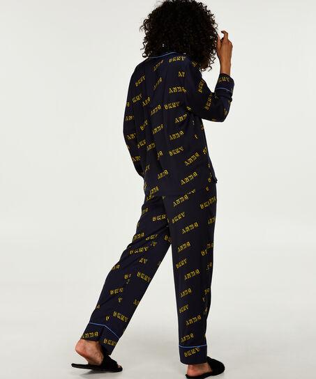 DKNY-Pyjamaset, Blau