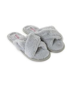 Cross Straps Indoor Sandal, Grau