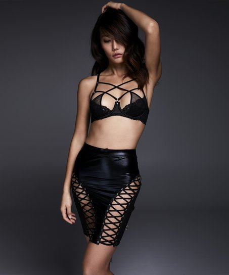 Rock Mesh Lace-up Private, Schwarz