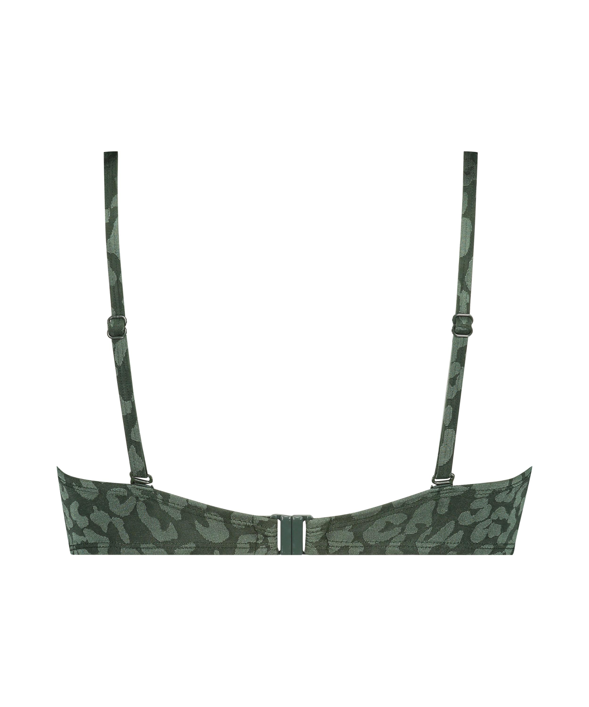 Vorgeformtes Push-up Bügel-Bikiniobertei Tonal Leo Cup A - E, grün, main