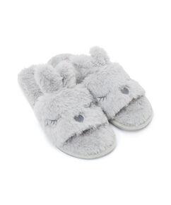 Slippers Bunny Lady, Grau