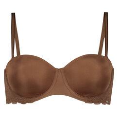 Vorgeformter Bügel-BH Angie Nude, strapless, Braun