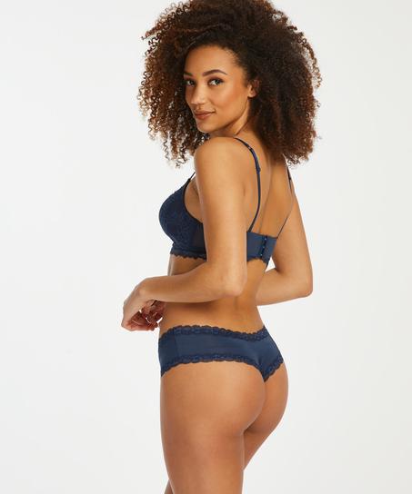 Brazilian V-shape mesh, Blau