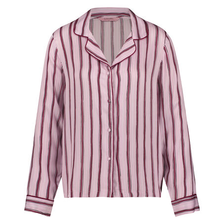 Pyjamatop Woven Striped, Rose