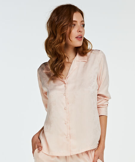 Satin-Pyjamatop, Rose