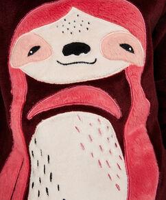 Fleece-Sweater lang, Rot