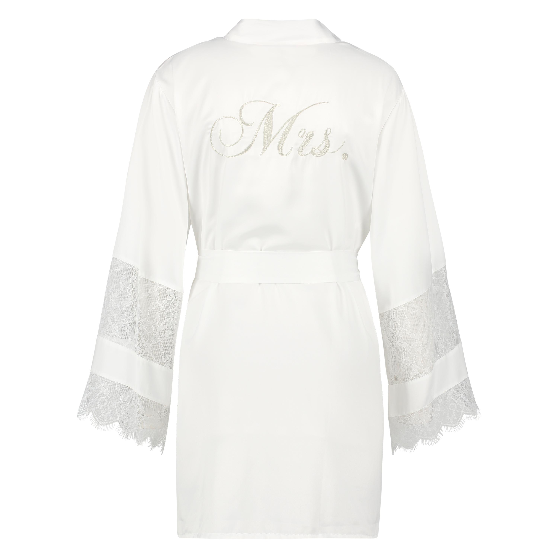 Satin-Kimono Bridal, Weiß, main