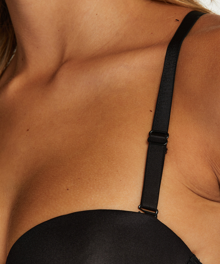 Lace-Back-Detail, Schwarz