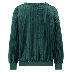 Langärmliges Top aus Fleece, grün