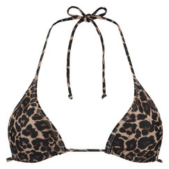 Dreieckiges Bikinitop Leopard, Braun
