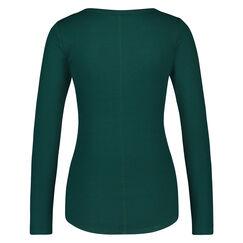 Langarm-Pyjamatop, grün