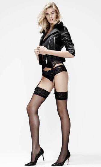Stockings 15 Denier Lace, Schwarz