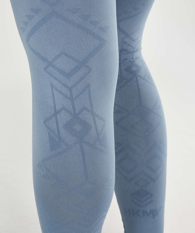 HKMX High Waisted nahtlose Sportleggings Flex, Blau, main
