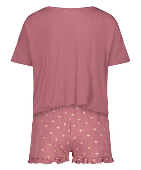 Kurzes Pyjamaset, Rosa