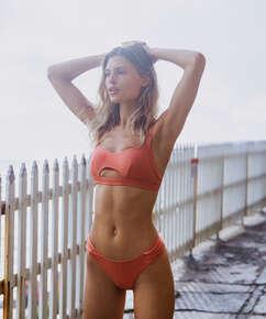 Bikinihose Bonita mit hohem Beinausschnitt, Orange