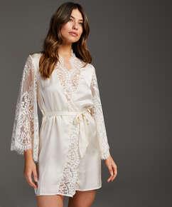 Kimono All Over Lace, Beige