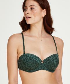 Vorgeformtes Push-up Bügel-Bikiniobertei Tonal Leo Cup A - E, grün