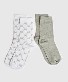2 Paar Socken Antonia, Weiß