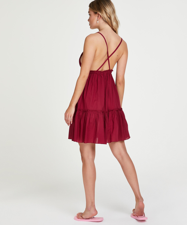 Strandkleid Tiered, Rot, main