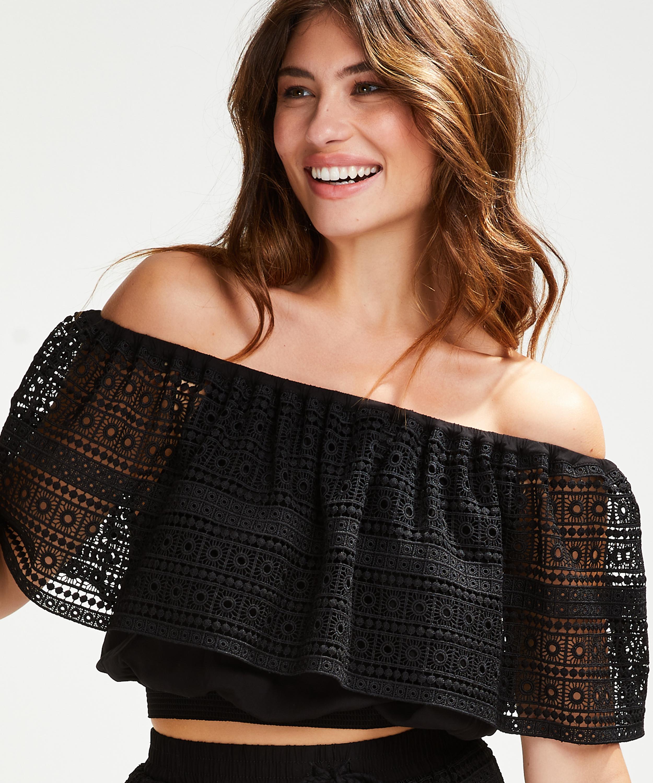 Top Crochet, Schwarz, main