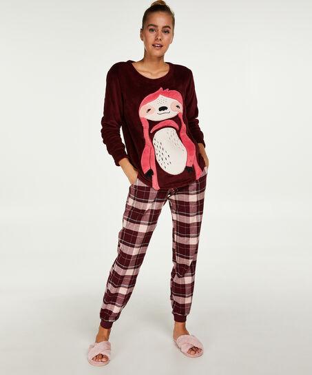 Pyjamahose Check, Rot