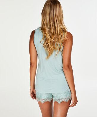Shorts Lace, Blau