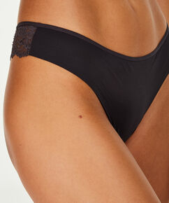 Invisible String Lace Back, Grau