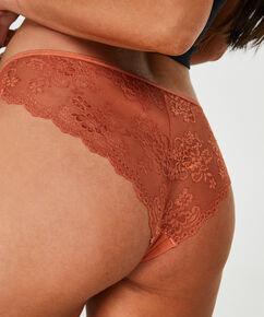 Invisible Brazilian Lace Back, Braun