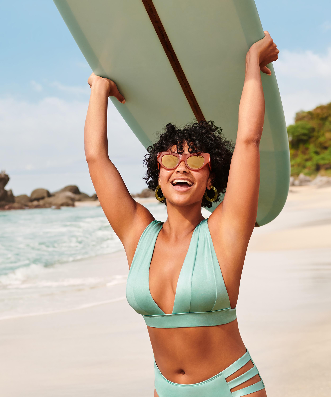 Triangel-Bikini-Oberteil SoCal, grün, main