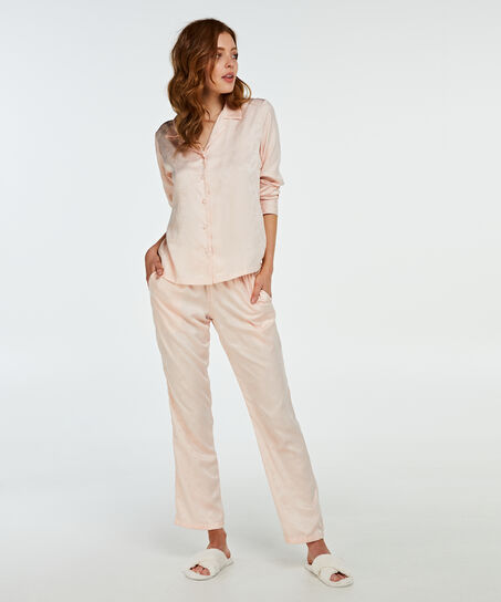 Pyjamahose Satin, Rose