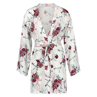 Kimono Woven Blossom, Weiß