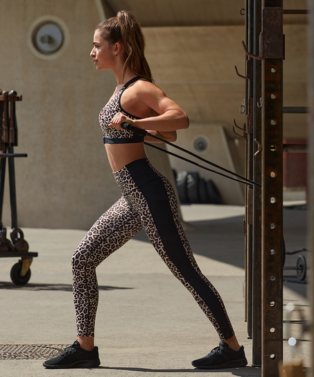 HKMX Sport-Legging mit hoher Taille, Grau