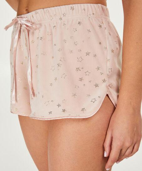 Shorts aus Velours mit Sternen - Pink Ribbon, Rose