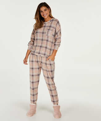 Langarm-Pyjamatop Jersey, Rose