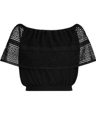 Top Crochet, Schwarz